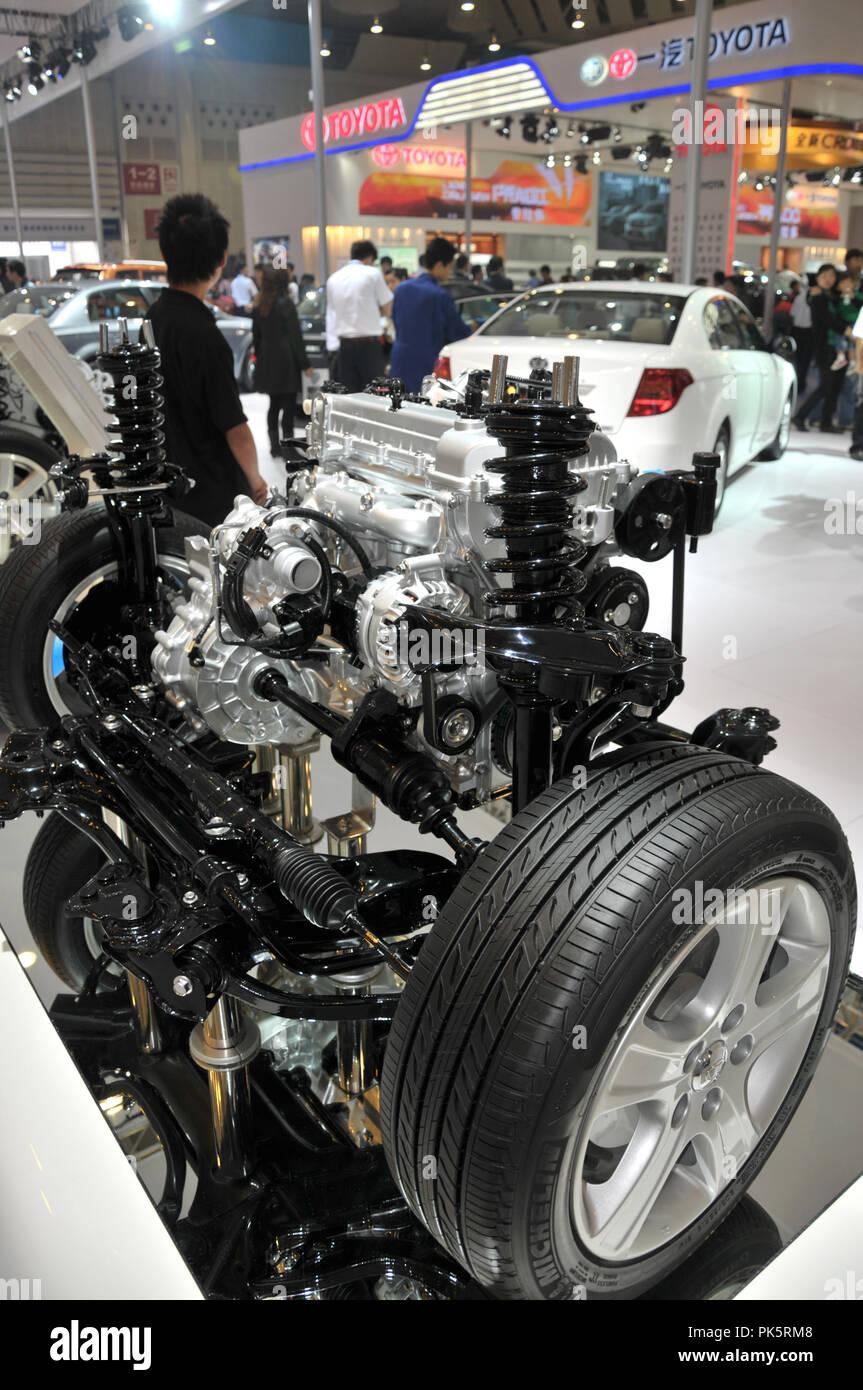 Motoren, die auf die Exposition in Chengdu, China, Sep 25., 2011. Stockbild