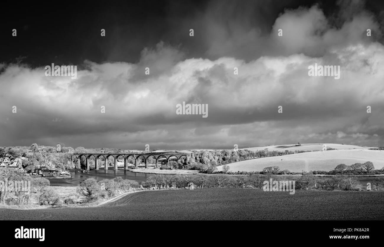 Viadukt, St Deutsche, Cornwall, Großbritannien Stockbild