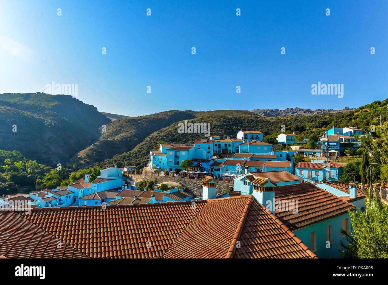 Der Schlumpf Dorf in der Nähe von Ronda - Andalusien, Spanien Stockbild