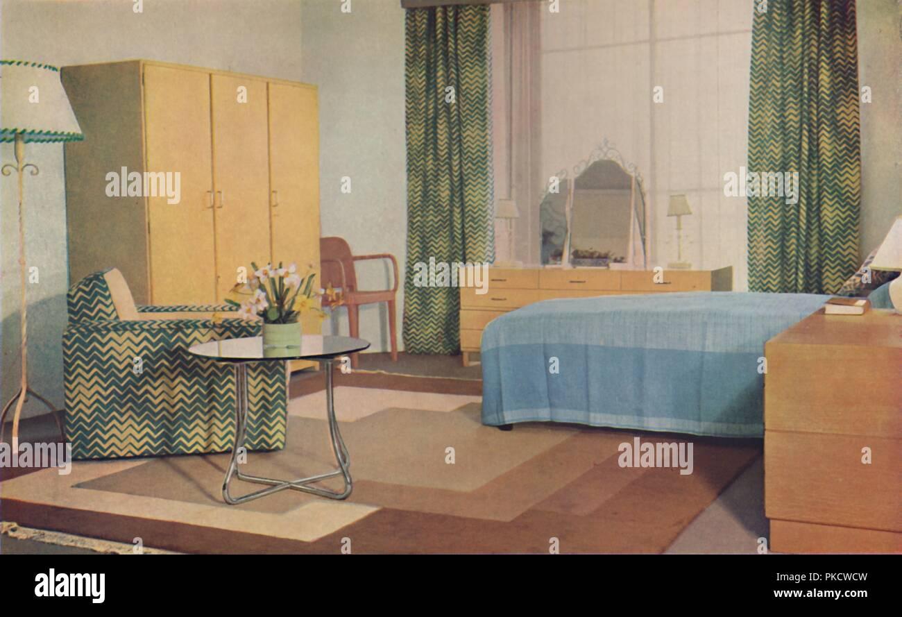 Hervorragend Ein Schlafzimmer Von Miss P.E. Humphries Für Die Herren William ...
