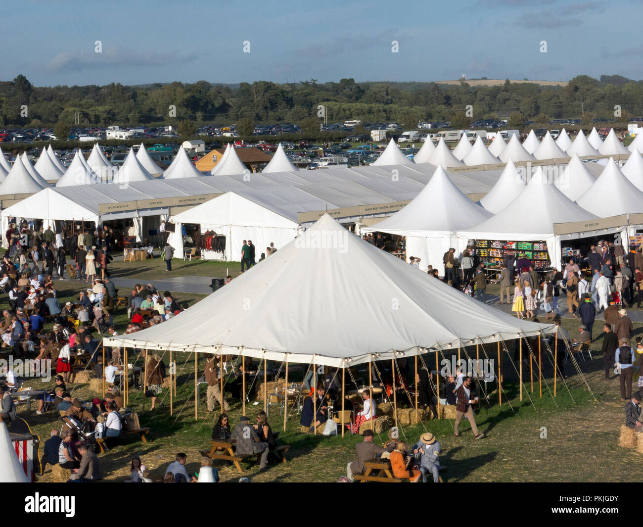 Goodwood Revival, Chichester, West Sussex, England Stockbild