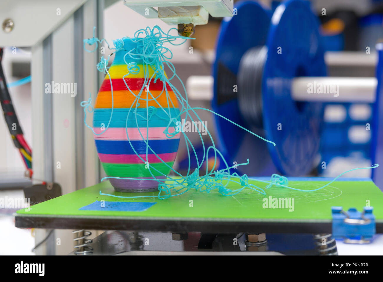 3D-Fehler beim Drucken. Stockbild