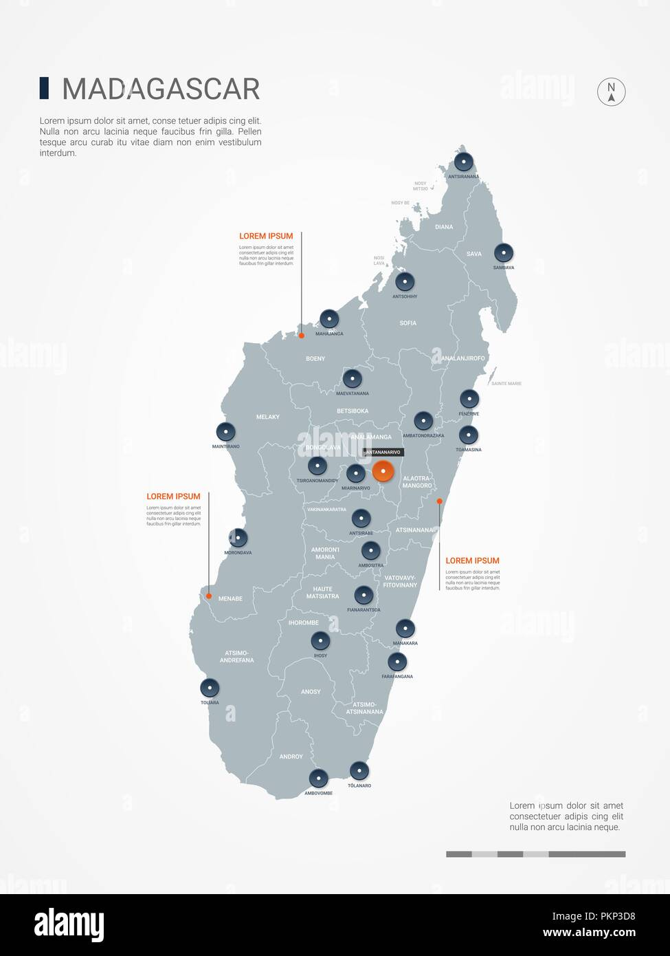 Madagaskar Karte.Madagaskar Karte Mit Grenzen Stadte Kapital Und