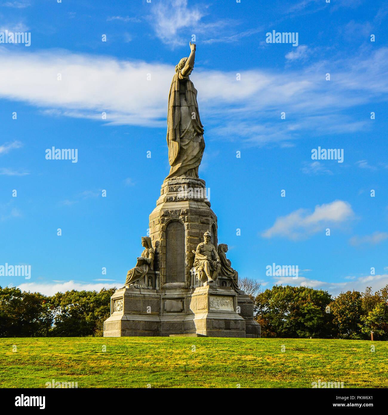 National Monument der Vorfahren -, Plymouth, MA Stockfoto