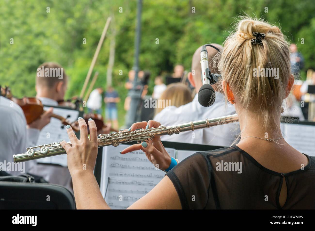 Musical Instrument Flute Stockfotos Musical Instrument Flute