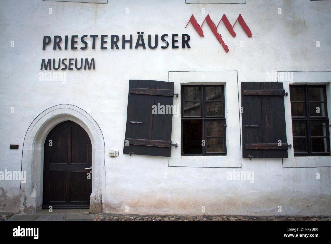 Die Priesterhauser Museum in Zwickau, Sachsen, Deutschland Stockbild