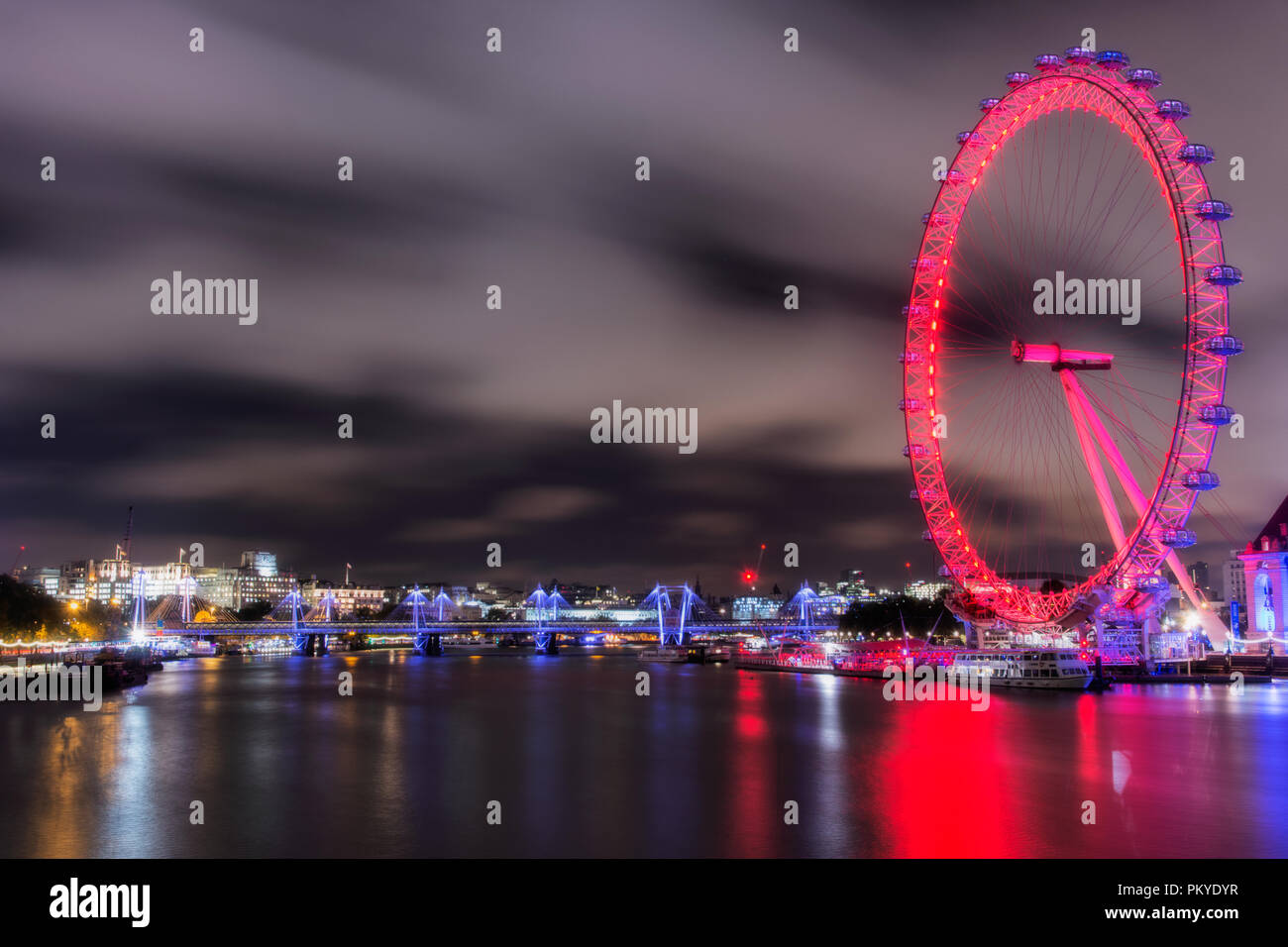 London Eye Stockbild