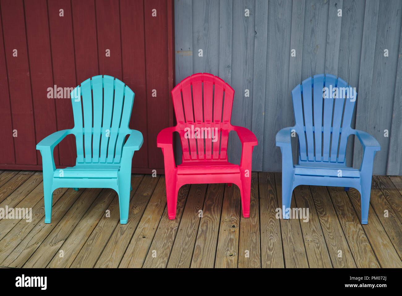 Plastic Deck Chairs Stockfotos und  bilder Kaufen   Alamy