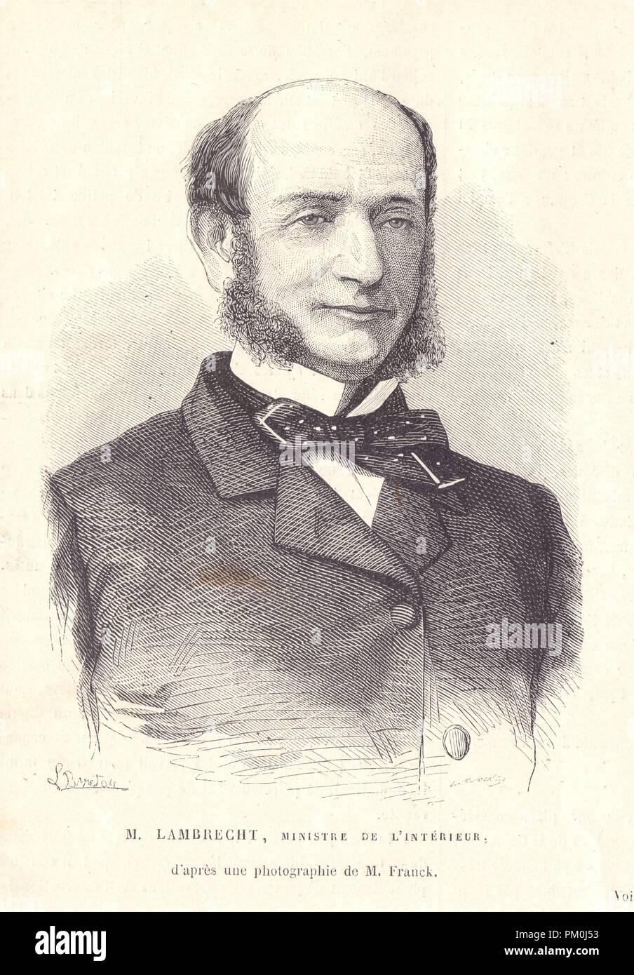 M. lambrecht. Ministre de l'Intérieur Stockbild
