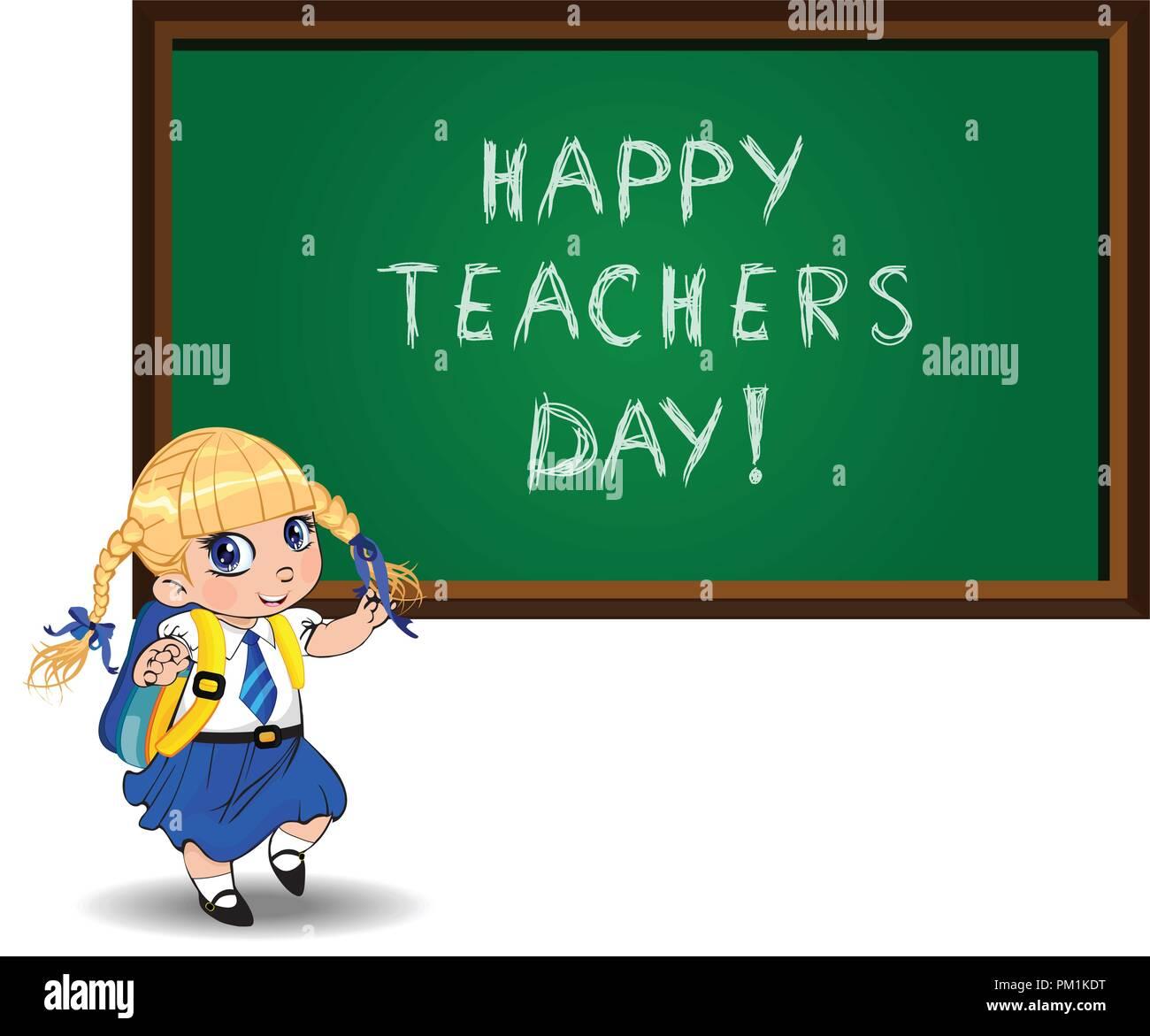 Urlaub Feier festlich Clipart von Cartoon boy Charakter für Happy Birthday,  zurück in die Schule, Lehrer, Großeltern-Tag Karte. Vektor illustra  Stock-Vektorgrafik - Alamy