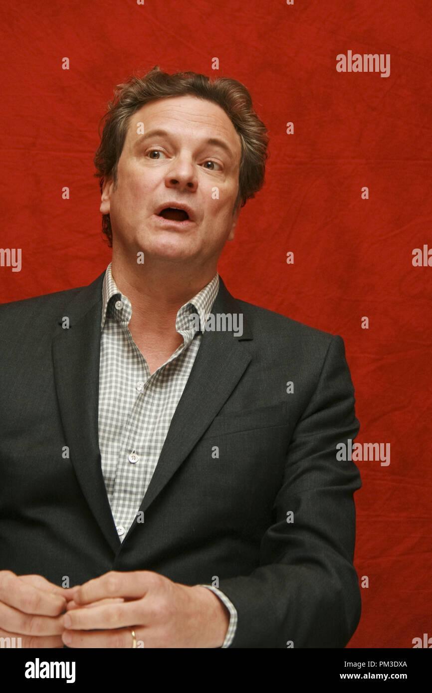 """Colin Firth """"The King's Speech"""" Portrait Session, 11. September 2010. Reproduktion von amerikanischen Boulevardzeitungen ist absolut verboten. Datei Referenz # 30485_011 GFS nur für redaktionelle Verwendung - Alle Rechte vorbehalten Stockbild"""