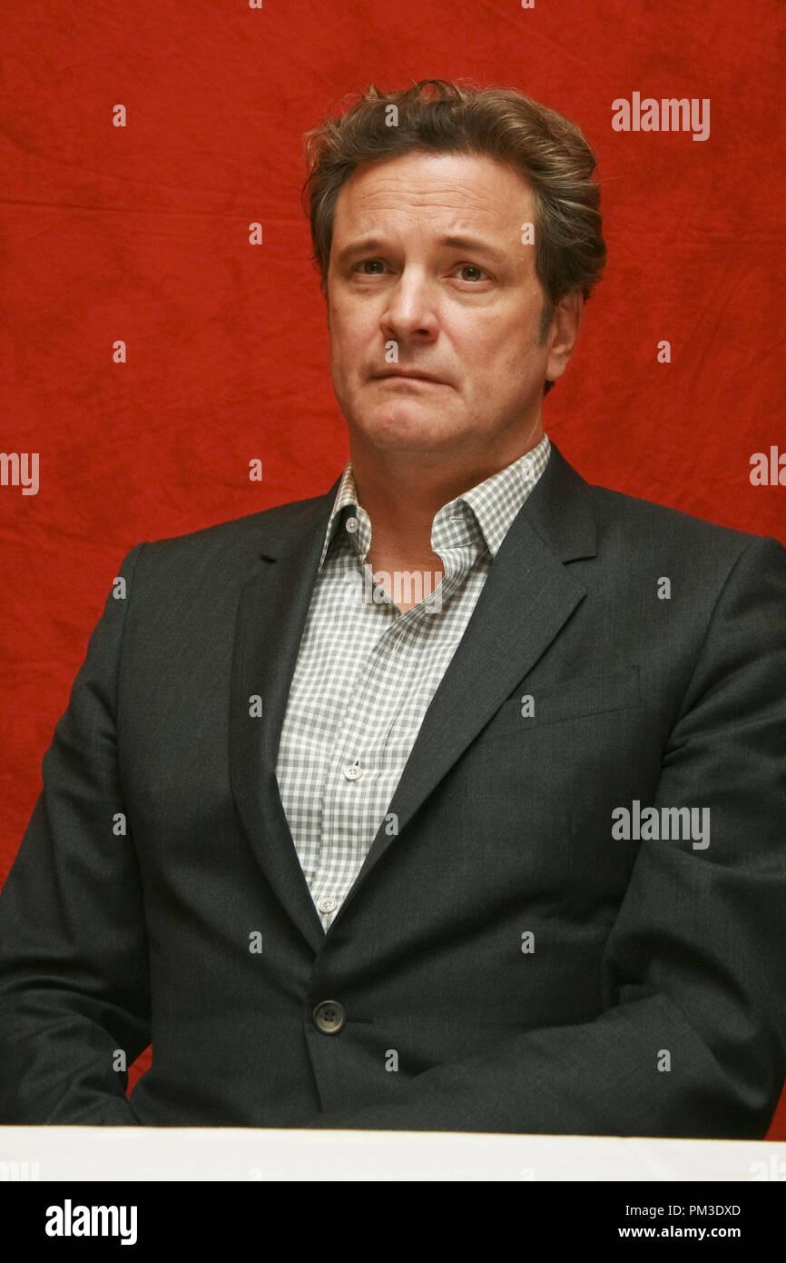 """Colin Firth """"The King's Speech"""" Portrait Session, 11. September 2010. Reproduktion von amerikanischen Boulevardzeitungen ist absolut verboten. Datei Referenz # 30485_013 GFS nur für redaktionelle Verwendung - Alle Rechte vorbehalten Stockbild"""