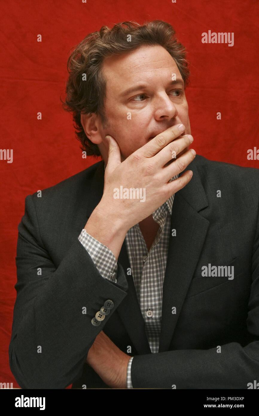 """Colin Firth """"The King's Speech"""" Portrait Session, 11. September 2010. Reproduktion von amerikanischen Boulevardzeitungen ist absolut verboten. Datei Referenz # 30485_019 GFS nur für redaktionelle Verwendung - Alle Rechte vorbehalten Stockbild"""