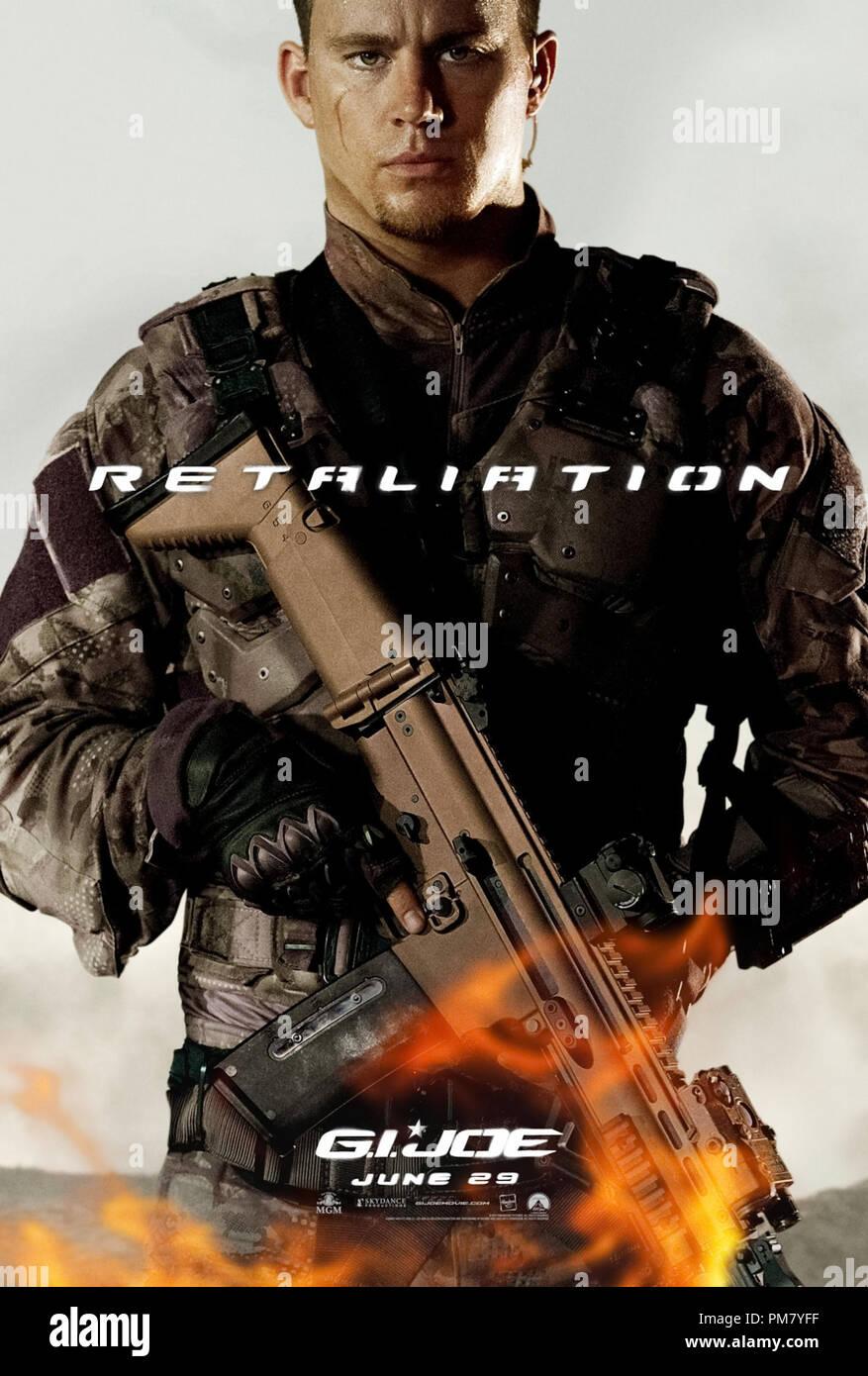 Channing Tatum spielt Herzog in G.I. JOE: Vergeltung, von Paramount Pictures, MGM, und Skydance Produktionen. Poster Stockbild