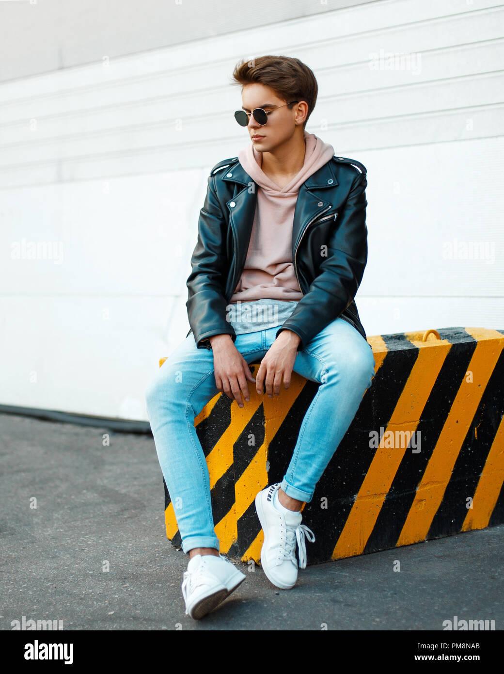 Sonnenbrille Stattlicher Stilvollen Einem In Junger Mann Mit FJlK1Tc