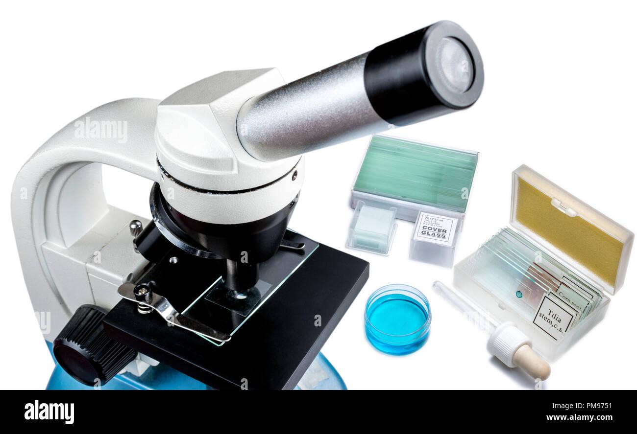 Mikroskopie ausrüstung für die forschung im labor und medizinische
