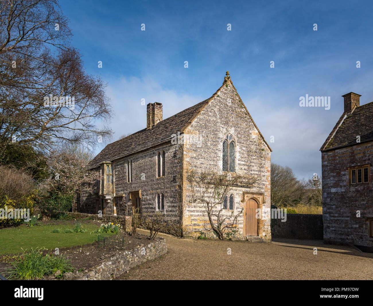 Cerne Abbey guesthouse, Cerne Abbas, Dorset, Großbritannien Stockbild
