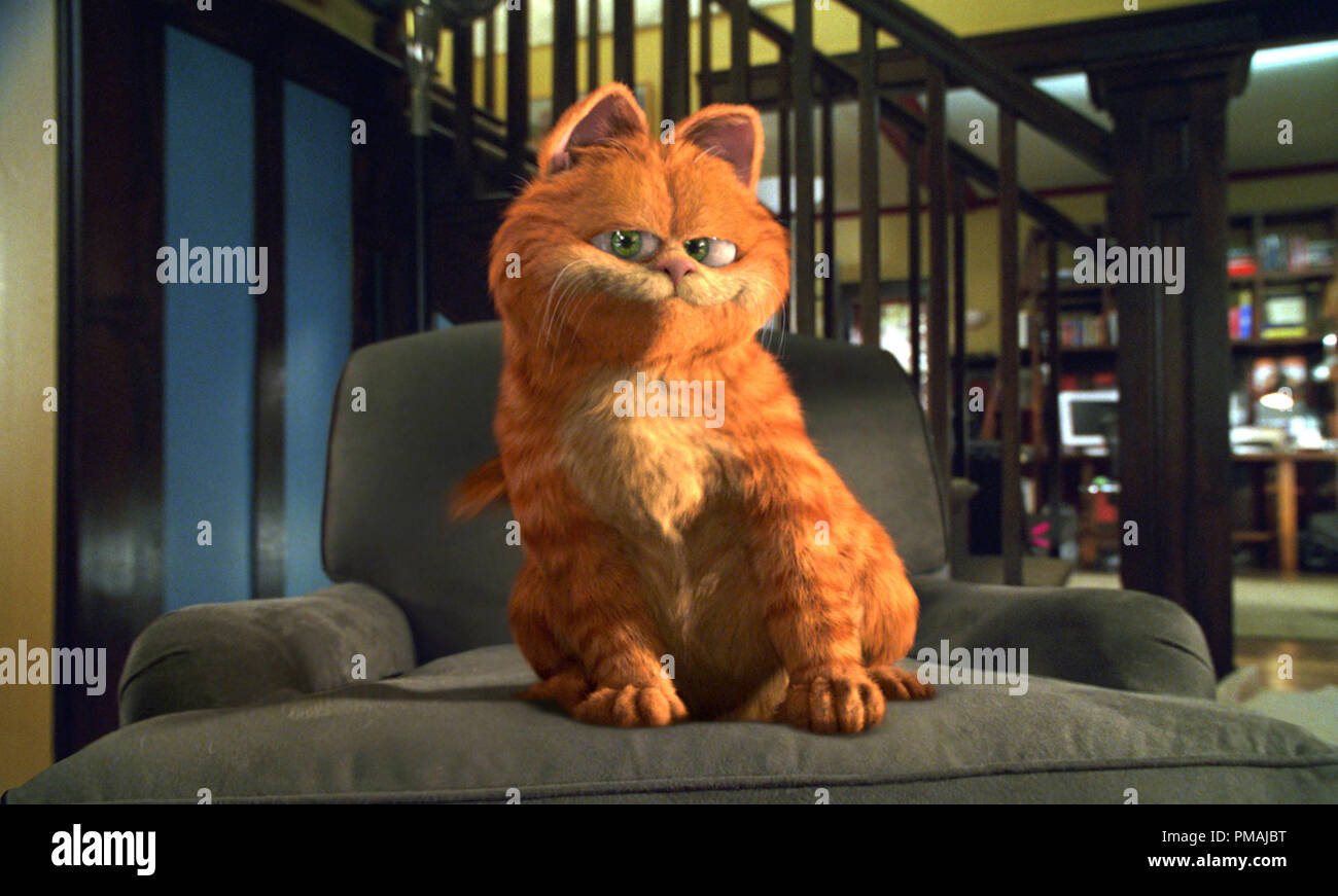 """Für Garfield, der weltweit beliebtesten Comic Figur, die über eine große motion picture Star geworden, es ist alles über mich - Autsch! """"Garfield Der Film"""" (2004) Stockbild"""