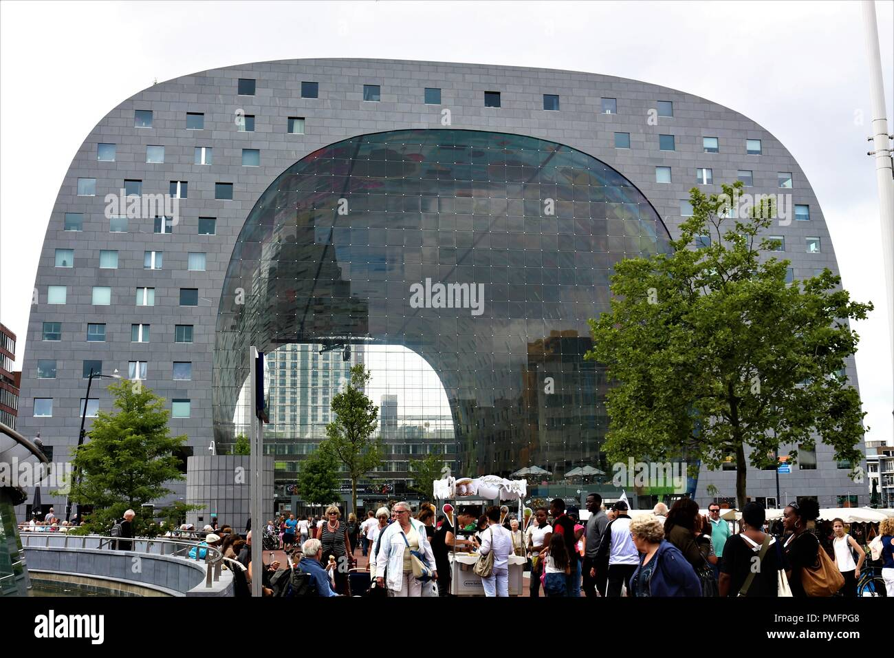 Halle in Rotterdam, diese herrliche Struktur werden Magnetisieren, ihren Blick für Sie sicher! Stockbild