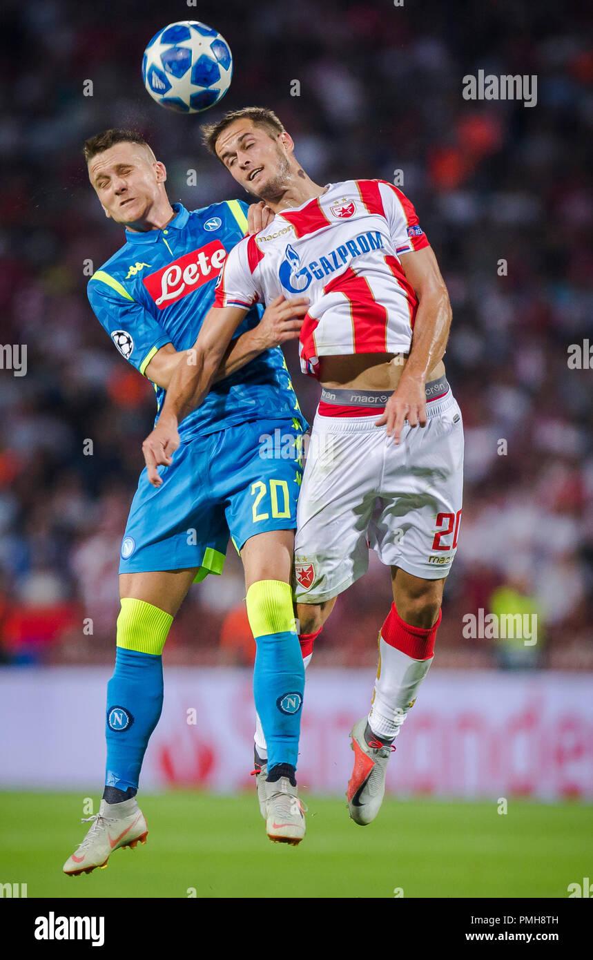 Rajko Mitic Stadion Belgrad Serbien 18 Sep 2018 Uefa