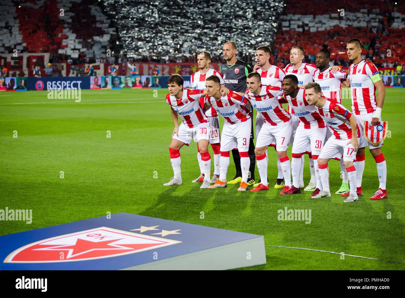 Belgrad Serbien 17 Sep 2018 Die Mannschaft Von Roter