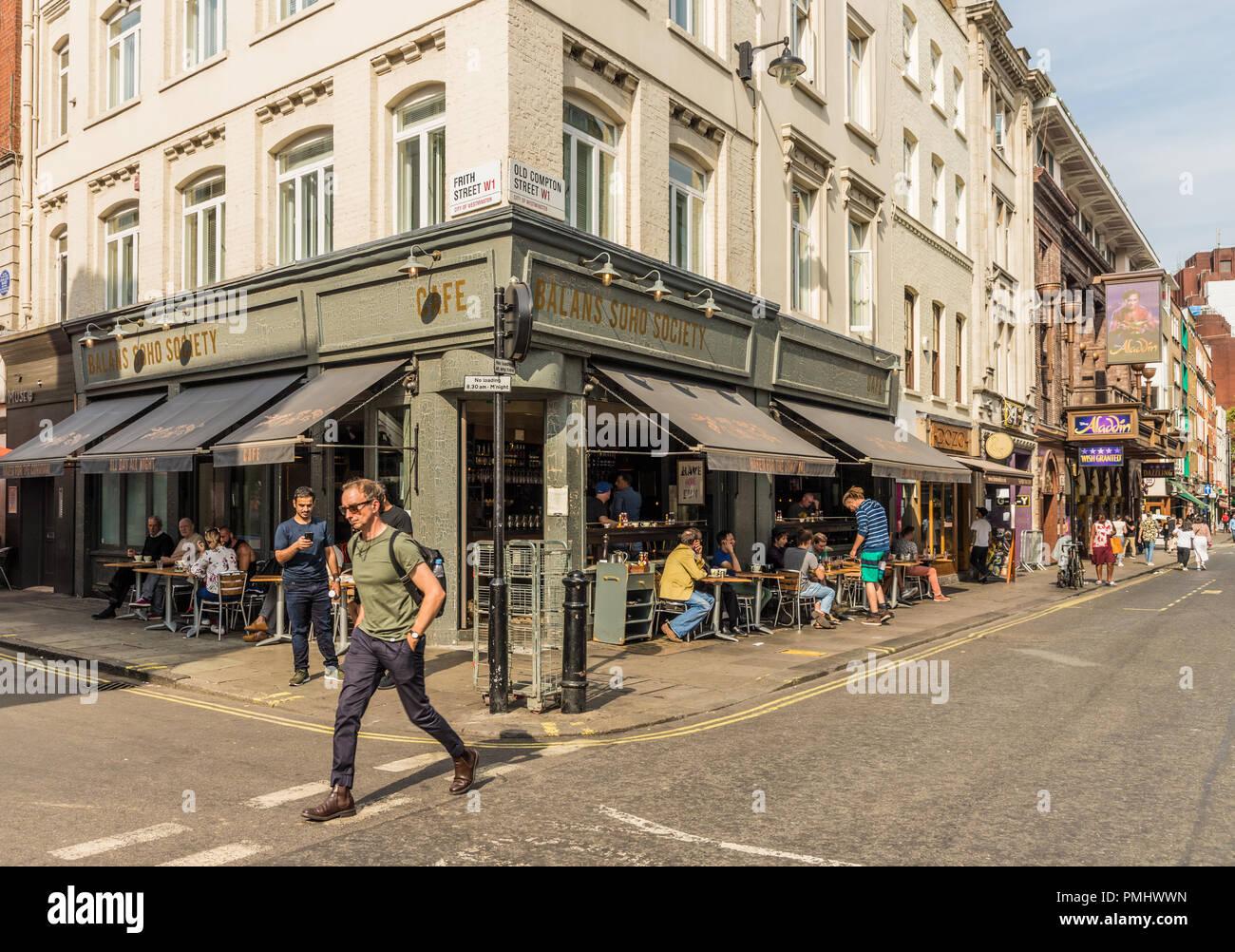 Eine typische Ansicht in London Stockbild