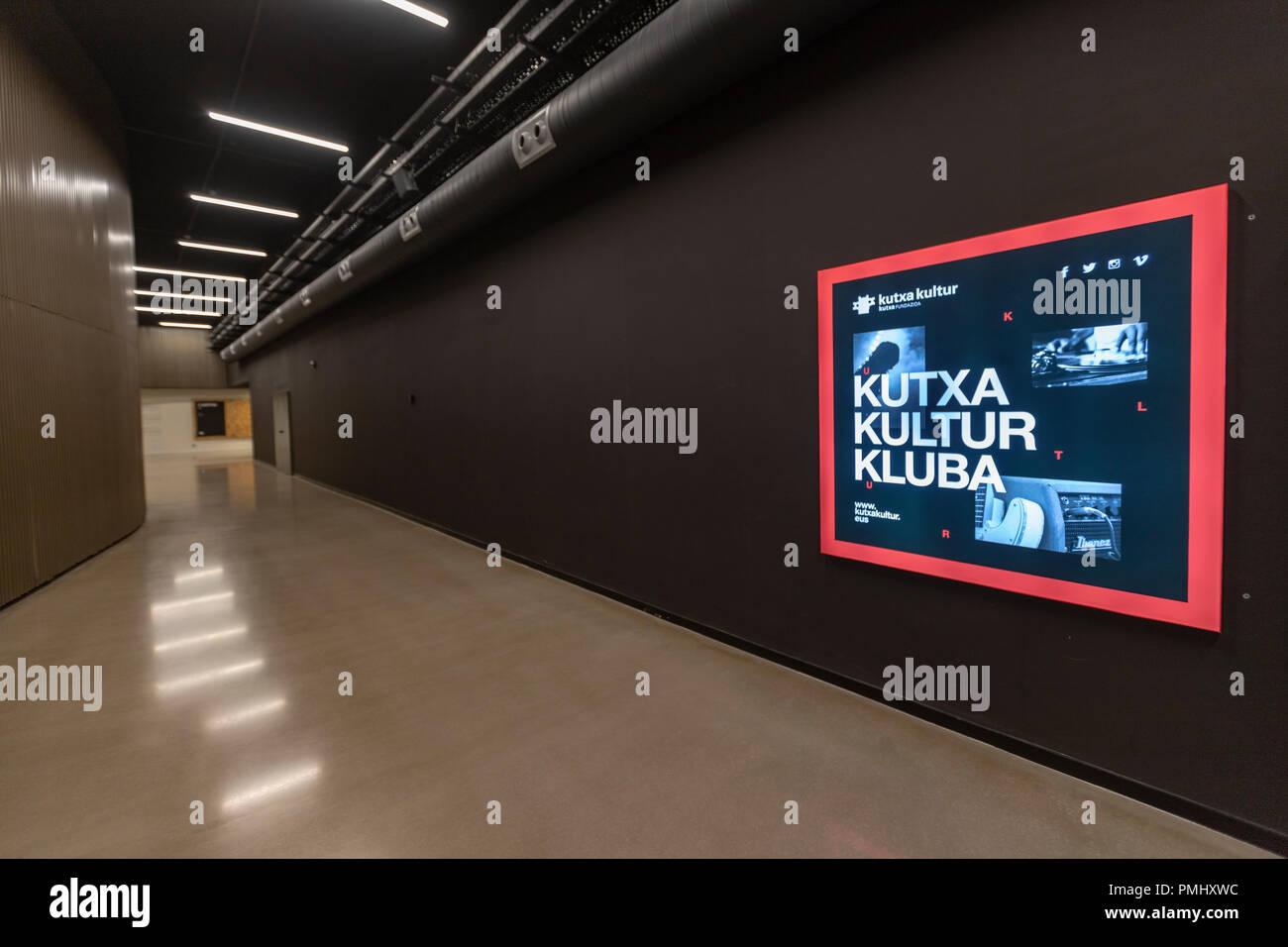 Kutxa Kultur in Tabakalera Kluba, San Sebastián, Baskenland, Spanien Stockbild