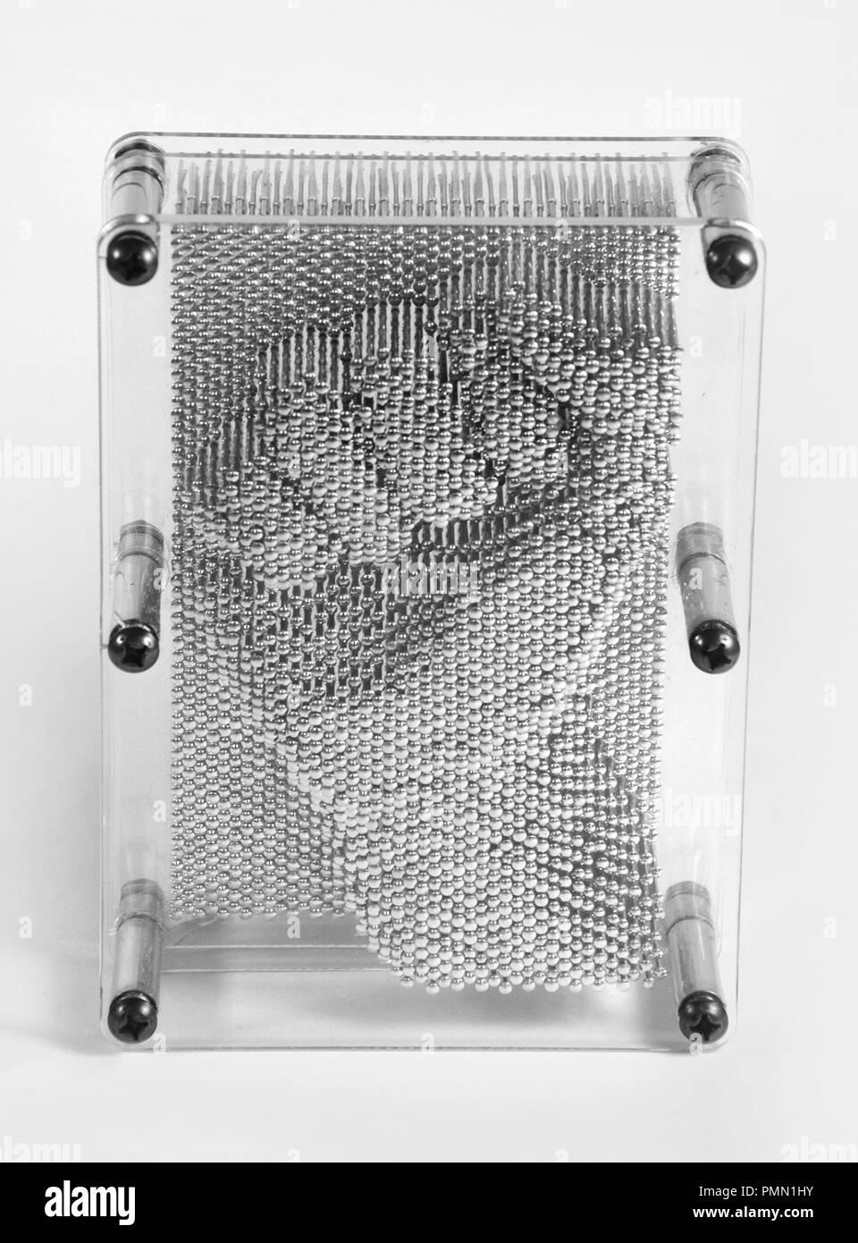 Pin-kunst Modell der geballten Faust. Stockbild
