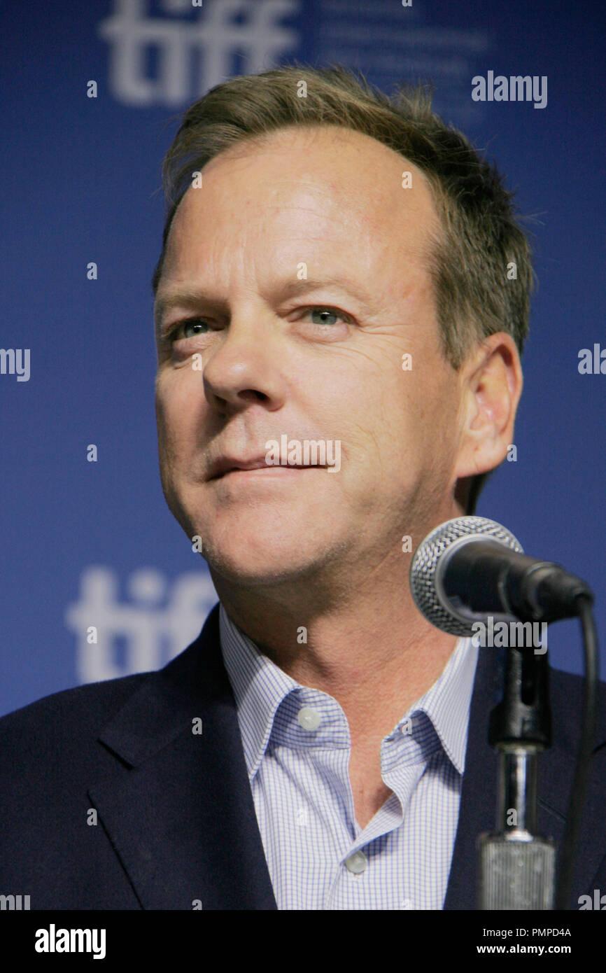 """Kiefer Sutherland 09/09/2012 """"Das widerstrebende Fundamentalist"""" Pressekonferenz in der TIFF Bell Lightbox in Toronto, Kanada Foto von Izumi Hasegawa/HNW/PictureLux gehalten Stockbild"""