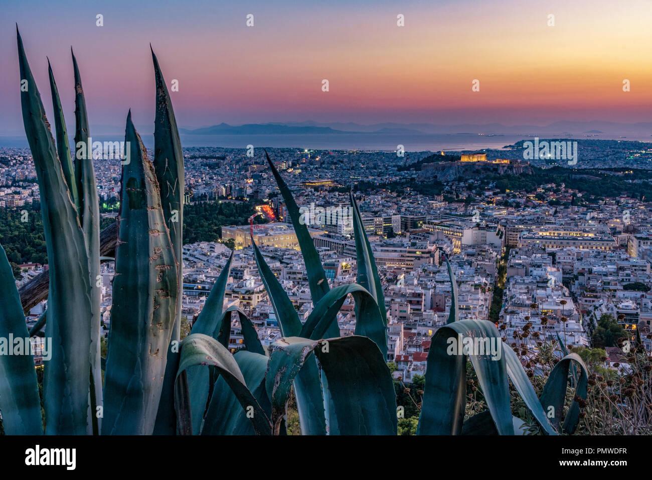 Athen Akropolis Stockbild