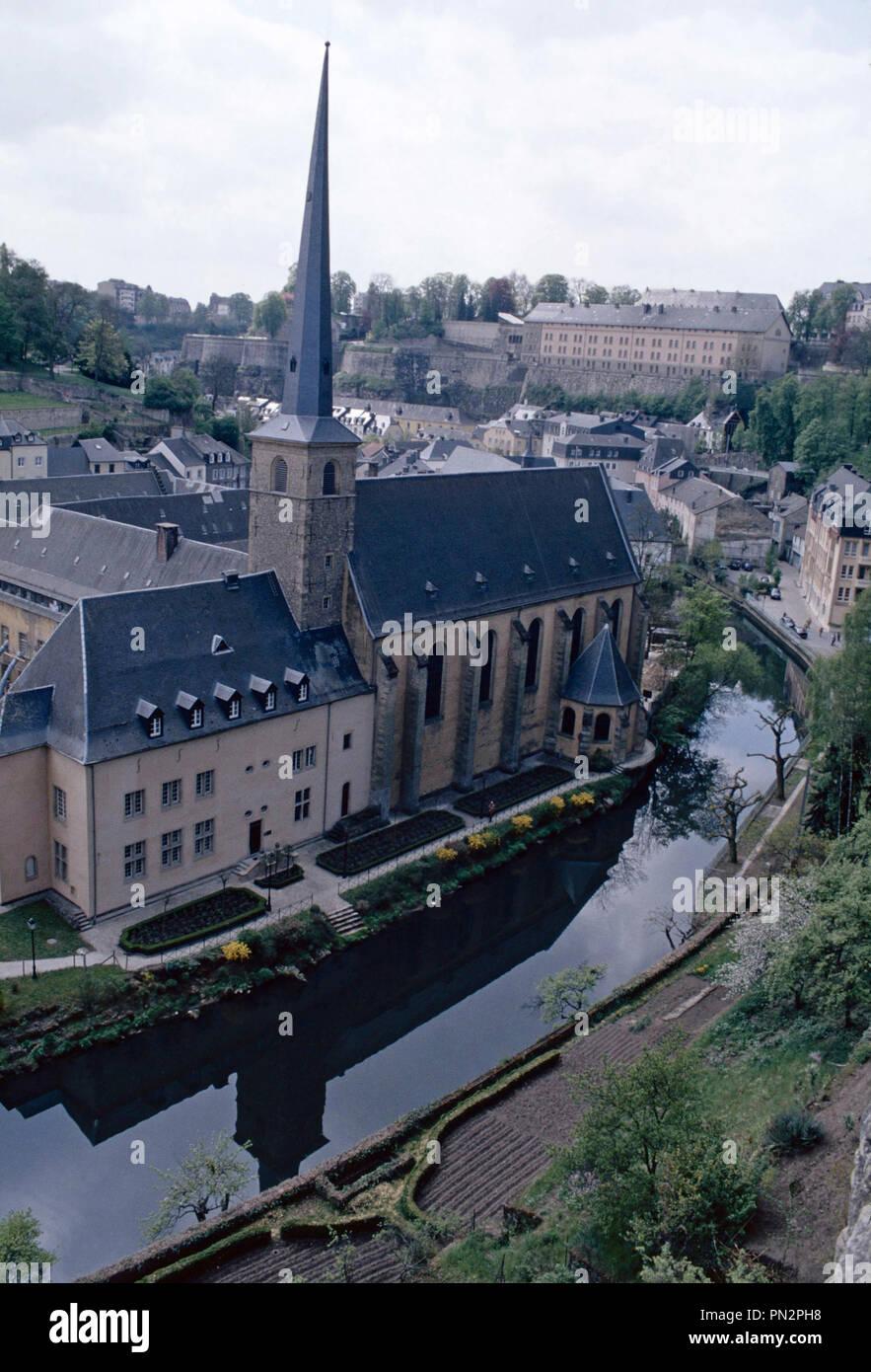 Neumünster Abbey, Luxemburg Stadt Stockbild
