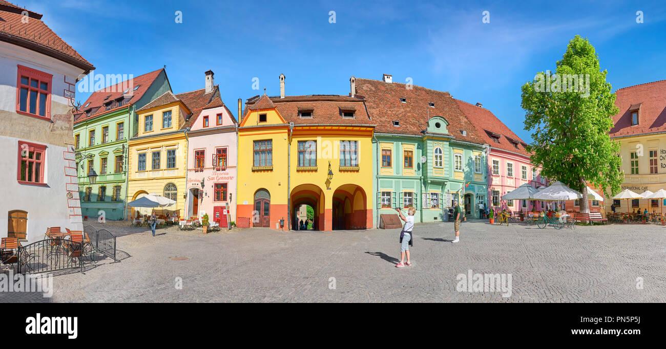 Alte Stadt Sighisoara, Siebenbürgen, Rumänien Stockbild