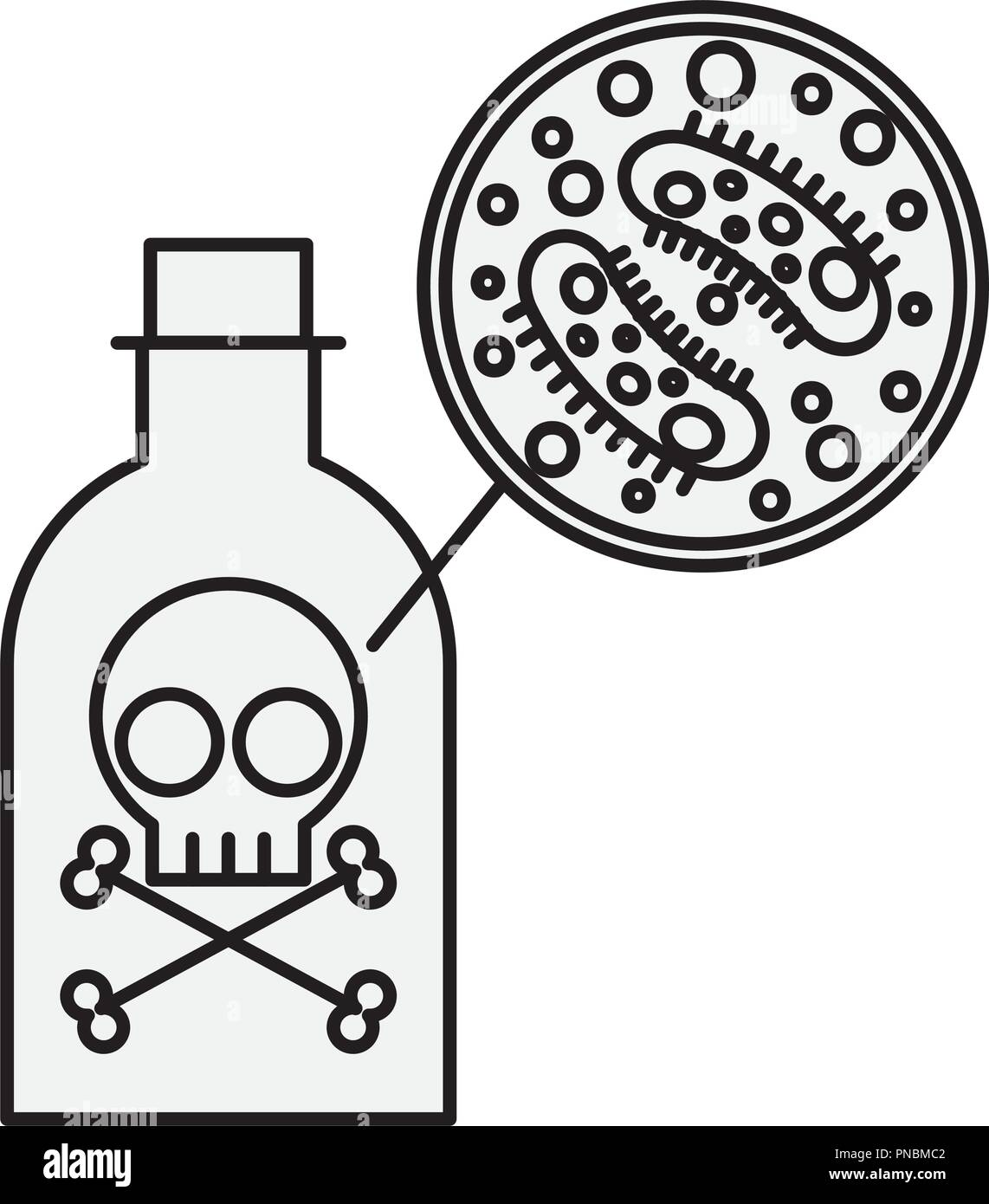 Gift Flasche Gefahr Bakterien Viren Stockbild
