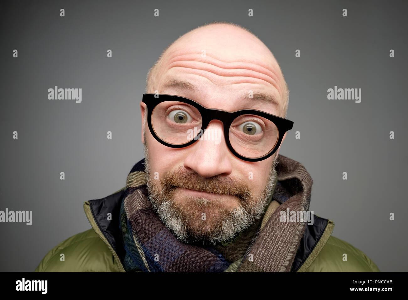 Glatze mit lustige mann bilder Mann Mit