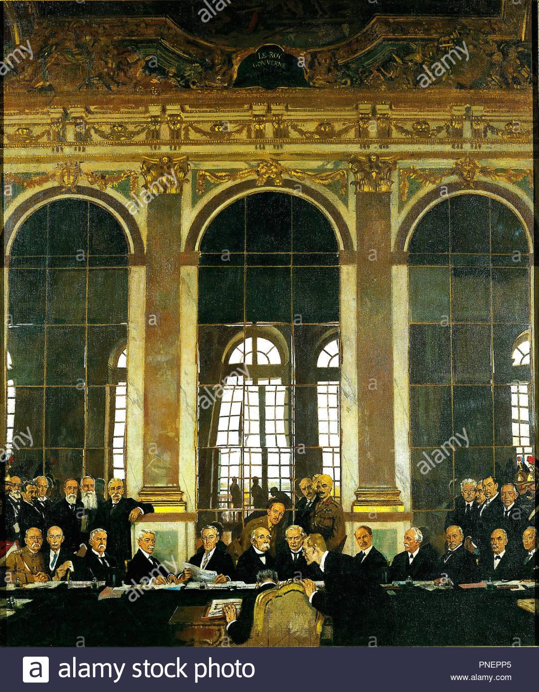 Die Unterzeichnung Des Friedens In Den Spiegelsaal Versailles 28