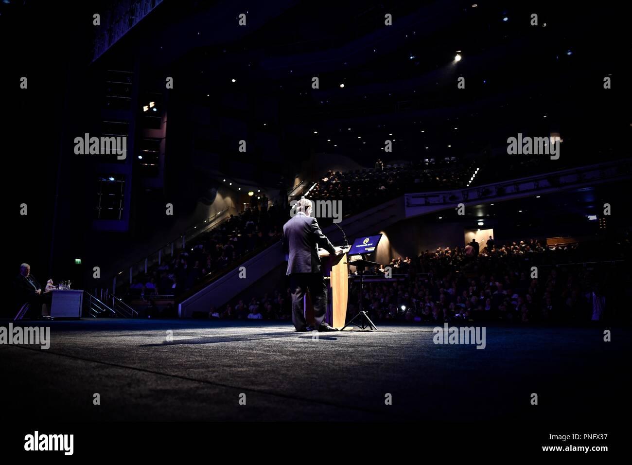 Birmingham ICC Deutschland - 21. September 2018 - die UKIP Partei Konferenz: eine Sammlung von Aufnahmen aus ukips jährliche Konferenz, einschließlich Gerard Batten und Zählen Dancula. Credit: Stuart Mitchell/Incmonocle/Alamy Live Stockbild
