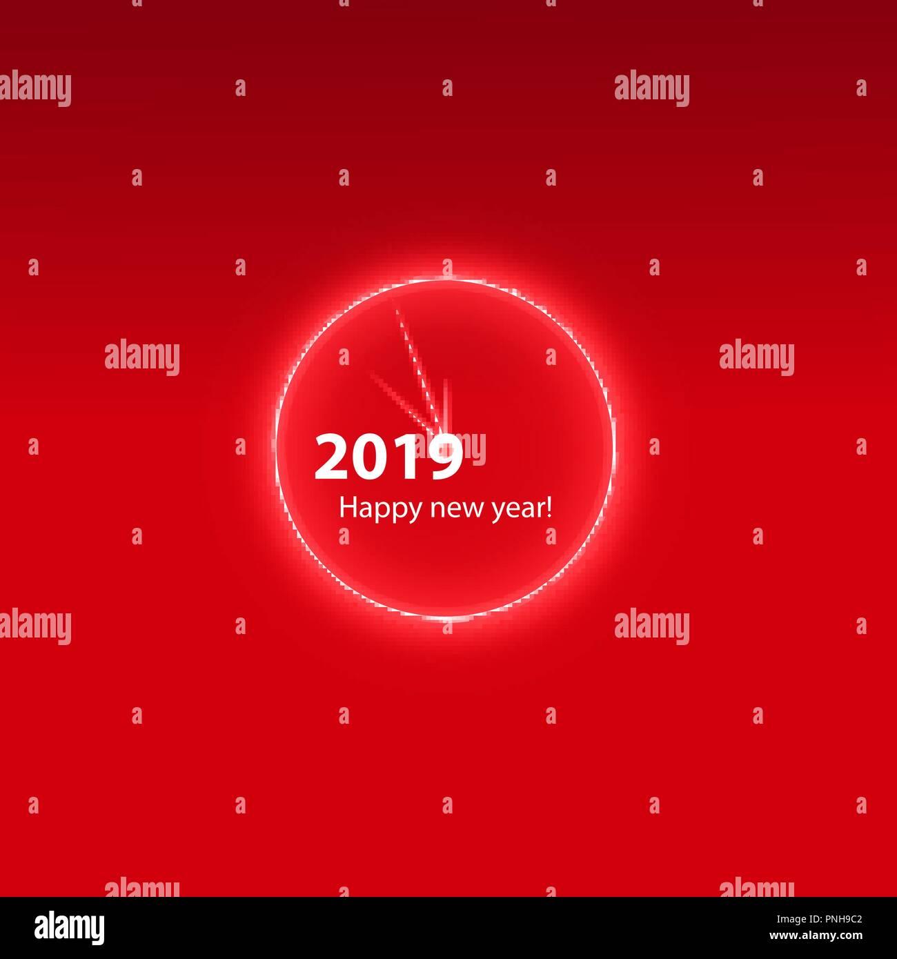 Weihnachtsfeier Plakat.Weihnachtsfeier Plakat Mit Einem Glühenden Magischen Uhr Frohes