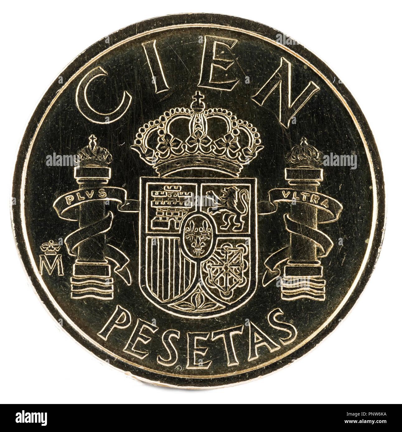 Alte Spanische Münze Von 100 Peseten Juan Carlos I Jahr 1982