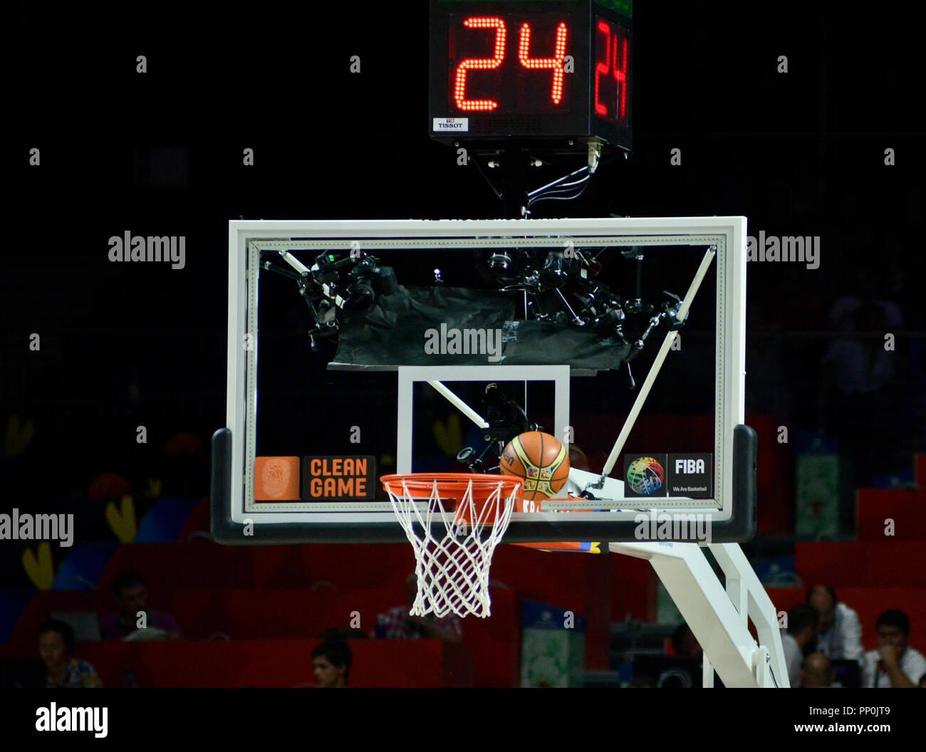 Basketball summerklopfer Schuß Stockbild