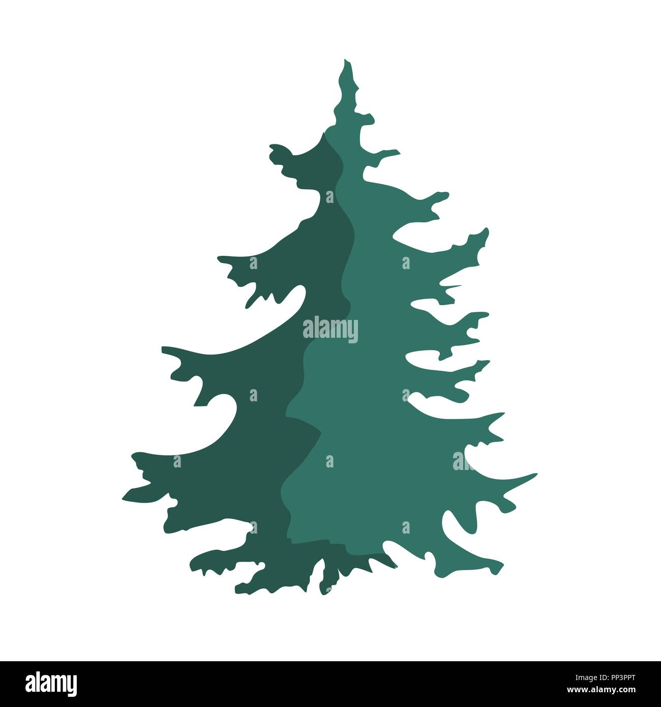 Weihnachtsbaum Gezeichnet.Hand Gezeichnet Weihnachtsbaum Isoliert Auf Einem Weißen Hintergrund