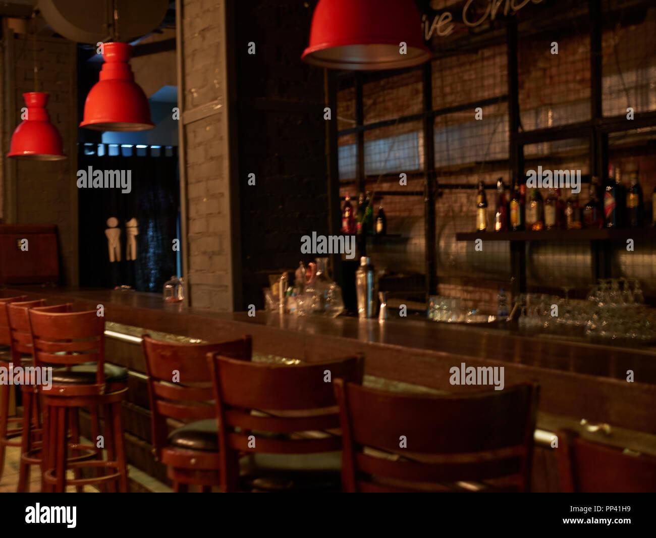 Lampen Modern Design : Modern jazz bar interior design bühne mit schwarzen klavier und