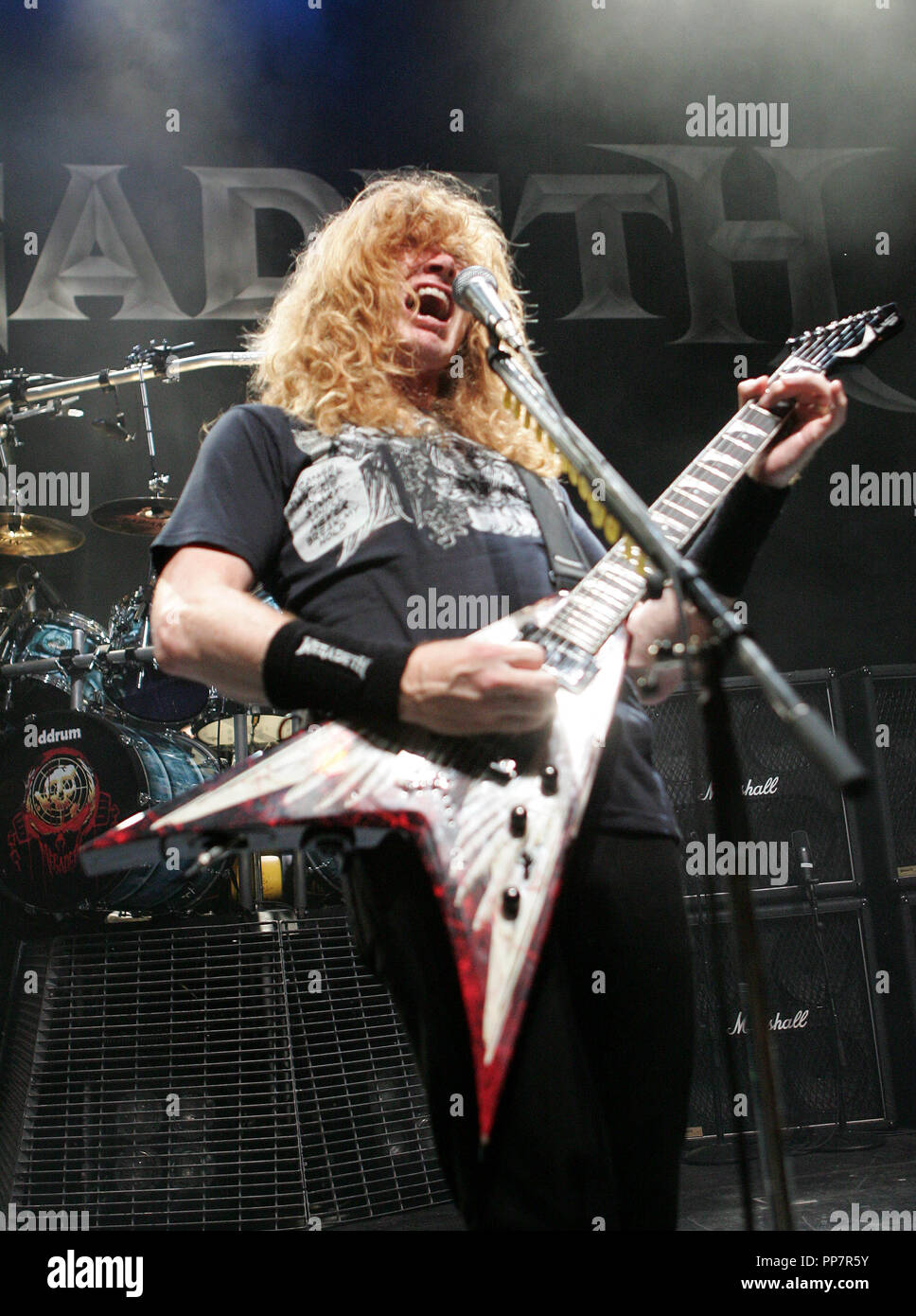 Dave Mustaine und Megadeth führt im Konzert im Club Revolution, in Ft. Lauderdale Florida am 3. Oktober 2007. Stockbild