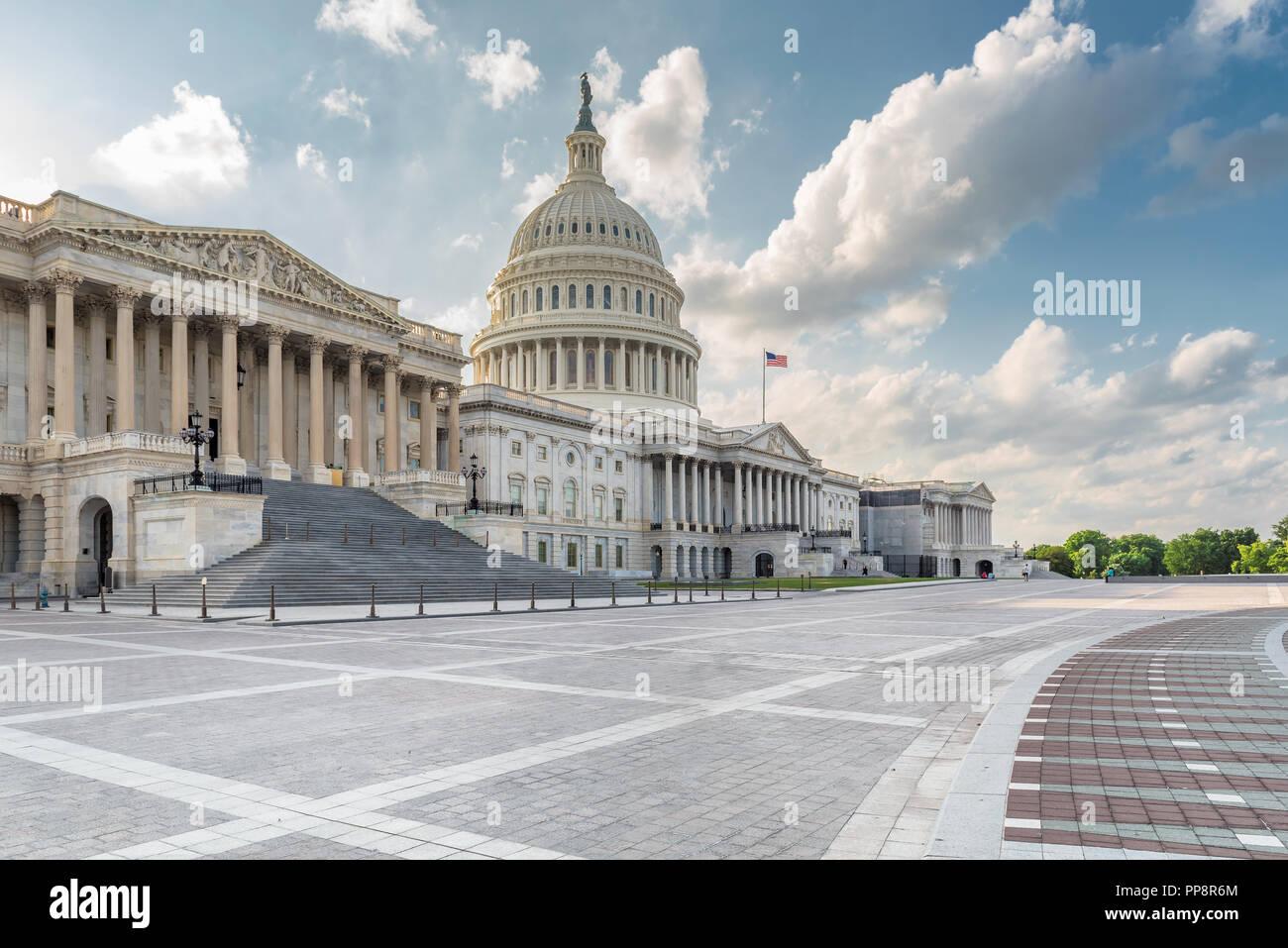 Washington DC, United States Capitol Gebäude im Sommer Stockbild
