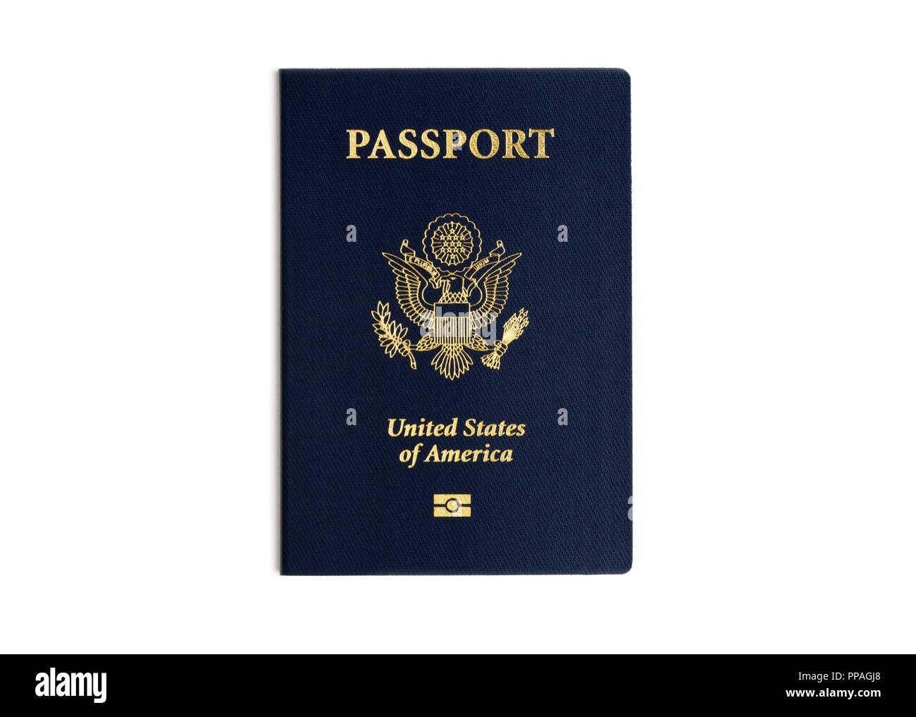 Pass Usa Reisepass Stockbild