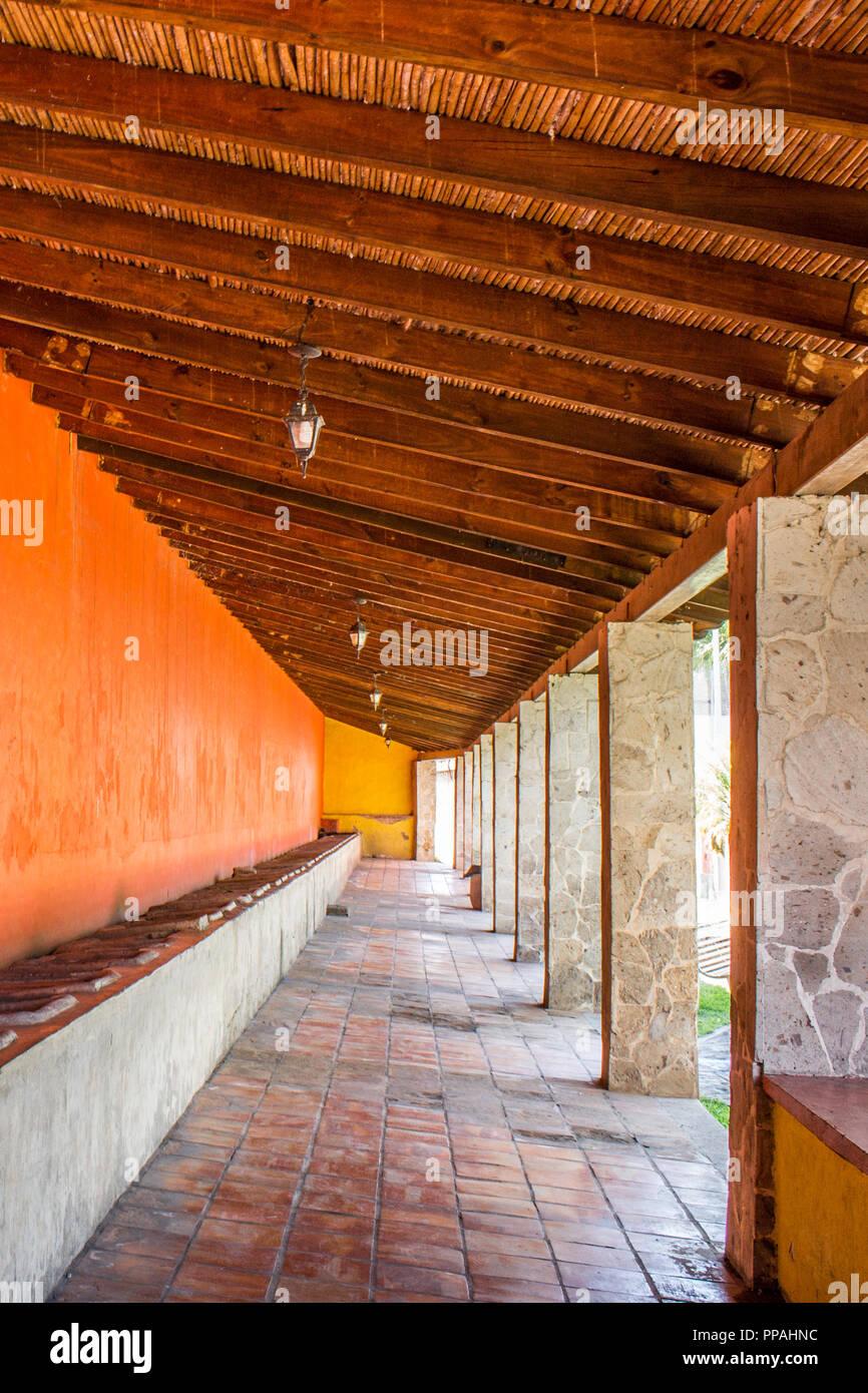 Ansicht der lavaderos in das Dorf Tequila Jalisco Mexiko Stockbild