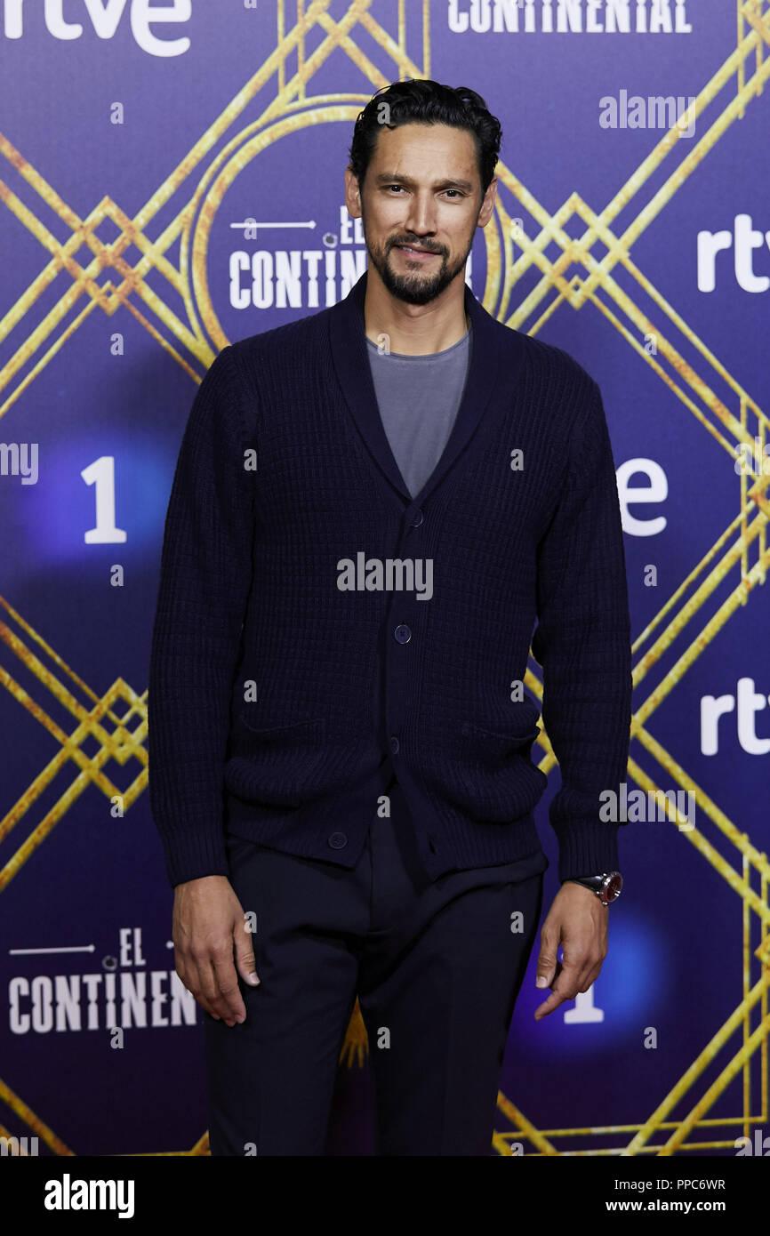 Madrid, Madrid, Spanien. 13 Sep, 2018. Stany Coppet gesehen für die Kamera bei Callao City Lights Kino während der 'Posing El Continental 'Premiere. Credit: A. Perez Meca/SOPA Images/ZUMA Draht/Alamy leben Nachrichten Stockbild