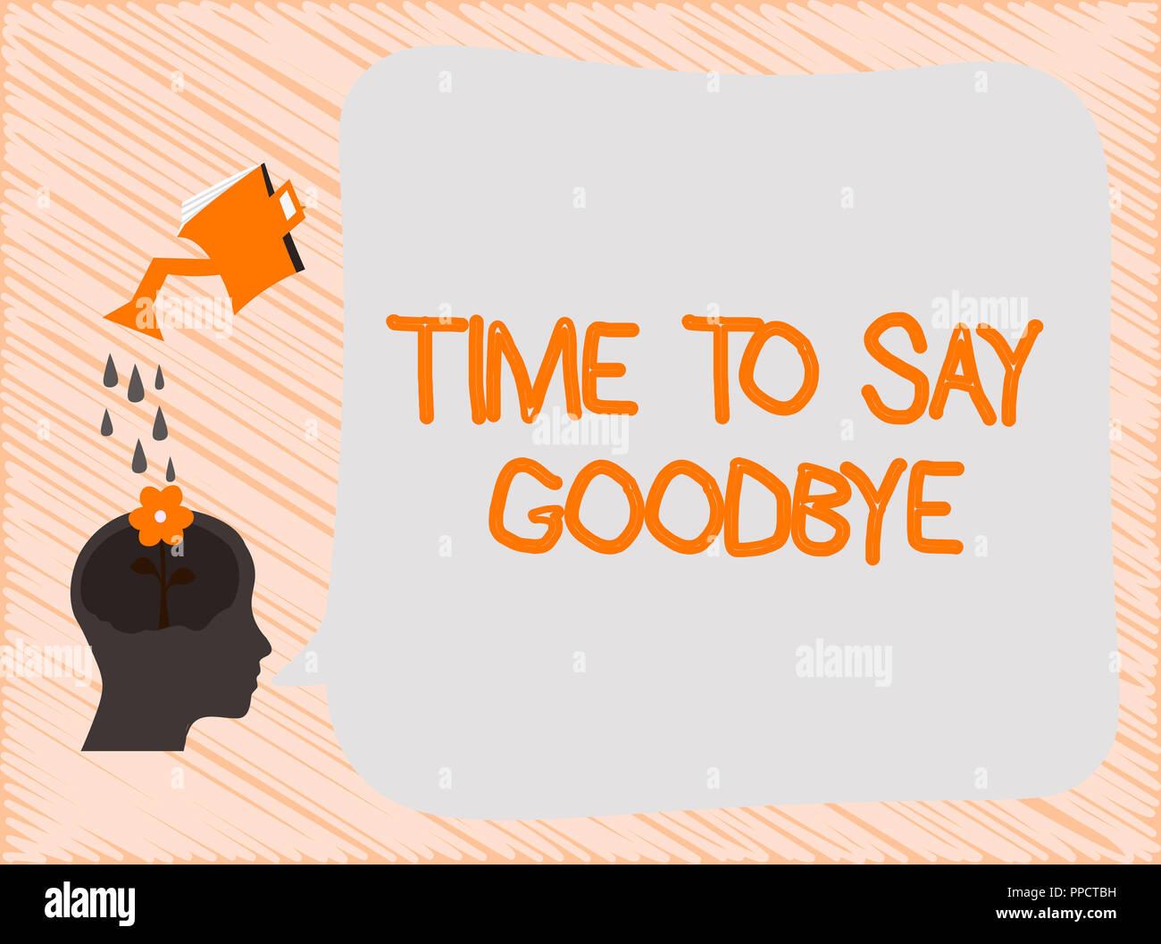 Abschied sagen