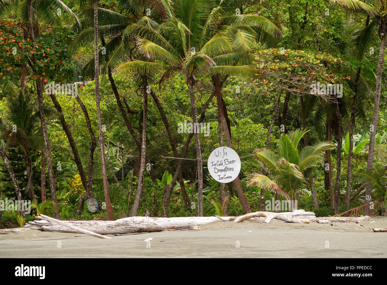 Strand Szenen, Corcovado Nationalpark, Halbinsel Osa, Costa Rica Stockbild