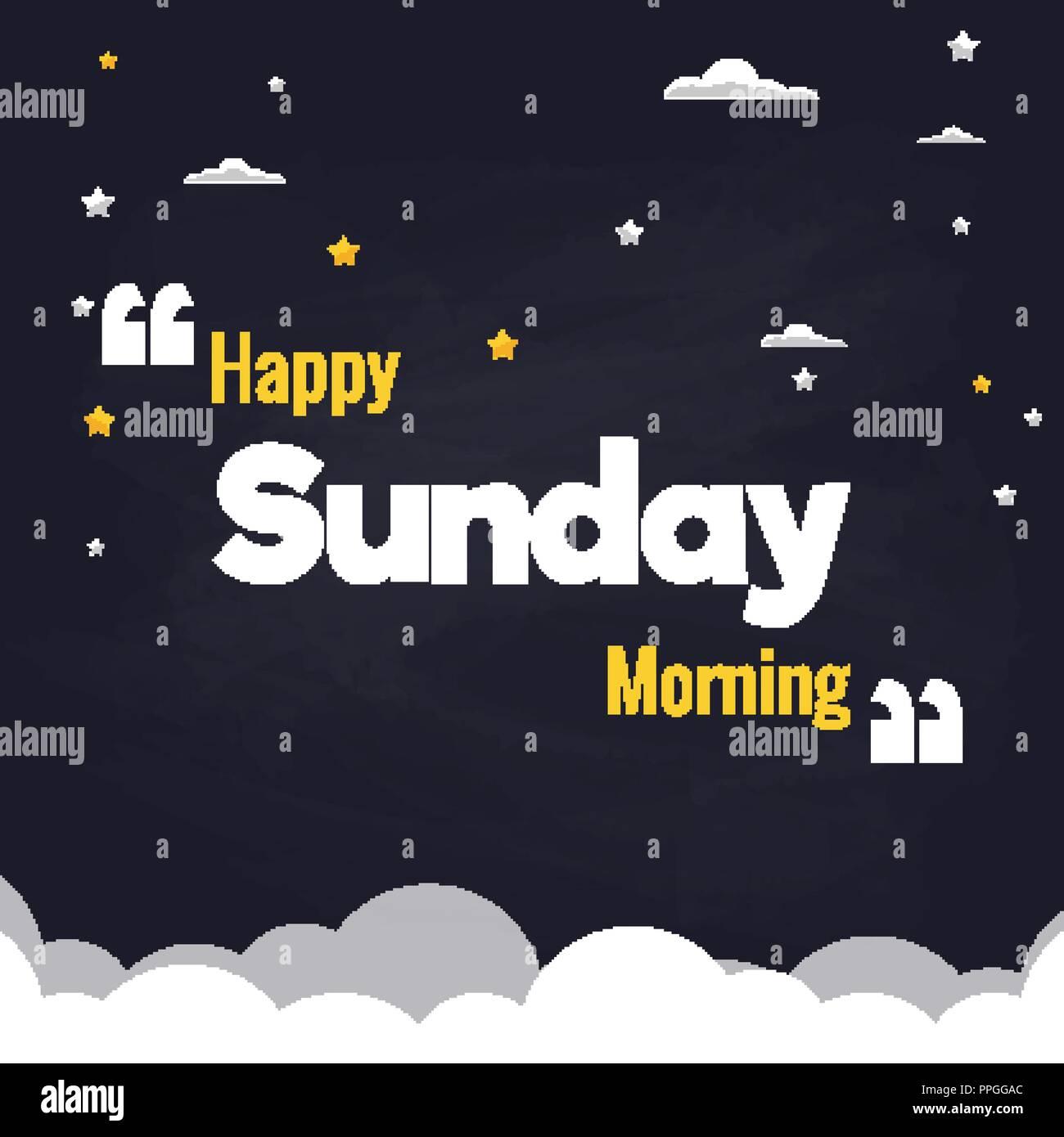 Schönen Sonntag Morgen Flachbild Hintergrund Vektor Design Vektor