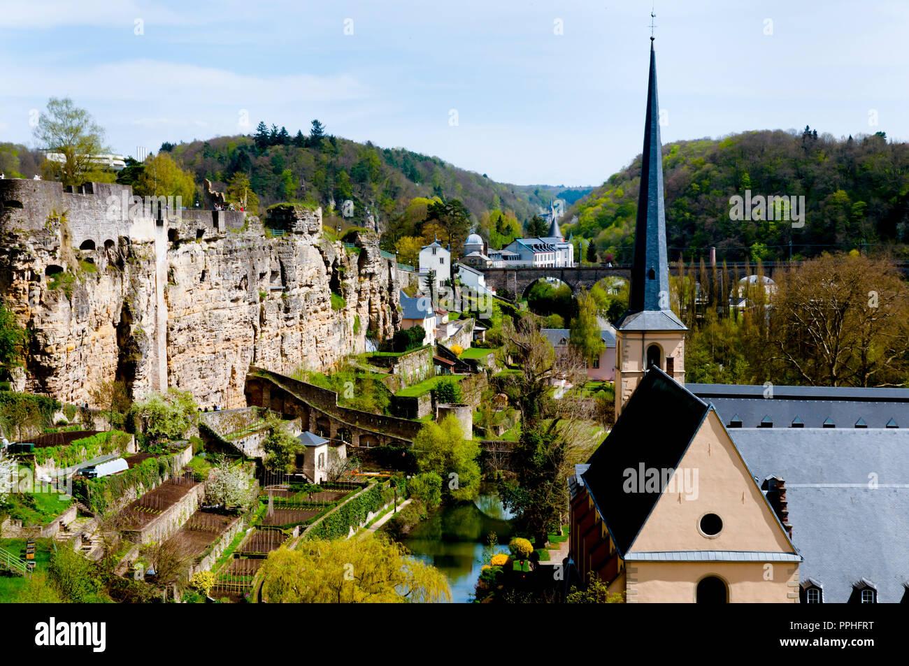 Neumünster Abbey - Luxemburg Stadt Stockbild
